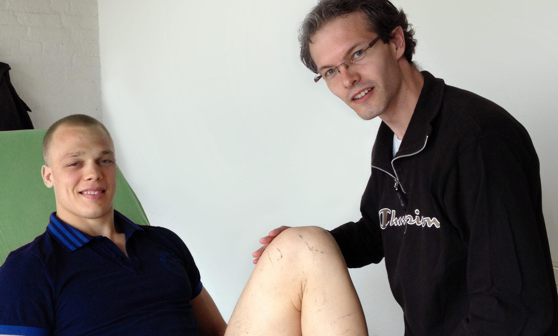 henk grol bij sportfysiotherapeut Diederick van Groenewoud